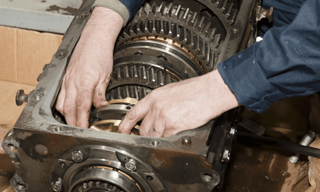 Man fixing Gearbox